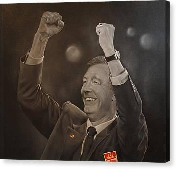 Alex Ferguson Canvas Print by David Dunne