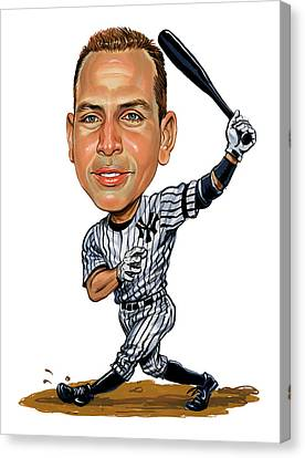 Alex Rodriguez Canvas Print by Art