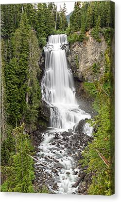Alexander Falls Whistler Canvas Print by Pierre Leclerc Photography