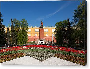Alexander Garden And Arsenal Walls Canvas Print by Panoramic Images