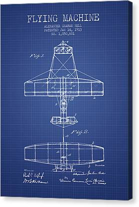 Alexander Graham Bell Flying Machine Patent From 1913 - Blueprin Canvas Print