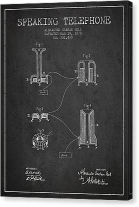 Alexander Graham Bell Speaking Telephone Patent From 1878 - Dark Canvas Print by Aged Pixel