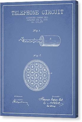 Alexander Graham Bell Telephone Circuit Patent From 1876 - Light Canvas Print