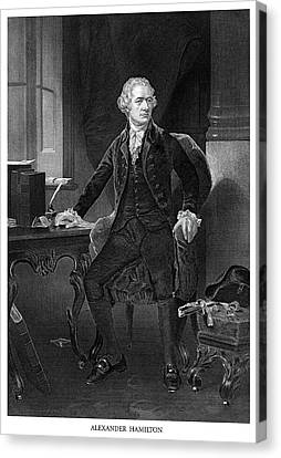 Alexander Hamilton Canvas Print by Historic Image
