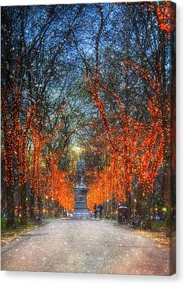 Alexander Hamilton On Commonwealth Ave - Boston Canvas Print by Joann Vitali