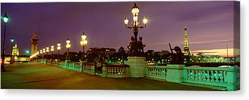 Alexander IIi Bridge, Paris, France Canvas Print by Panoramic Images