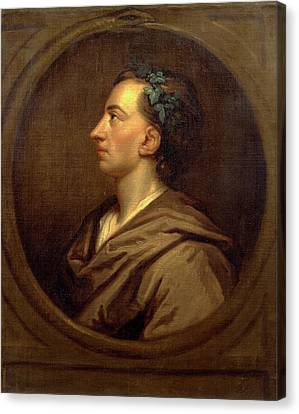 Alexander Pope Profile, Crowned With Ivy Canvas Print by Litz Collection