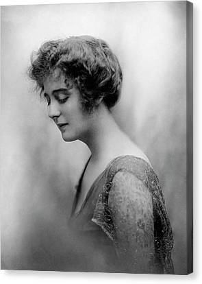 Alexandra Carlisle Wearing A Chiffon Dress Canvas Print