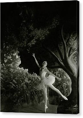 Alexandra Danilova In Swan Lake Canvas Print by Cecil Beaton