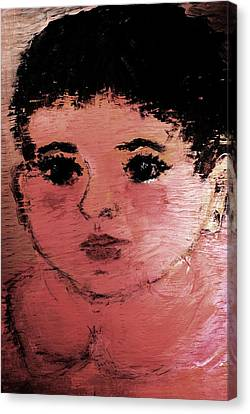 Canvas Print featuring the painting Alexandra by Evelina Popilian