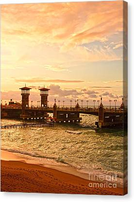 Alexandria Stanley Bridge Canvas Print by Mohamed Elkhamisy