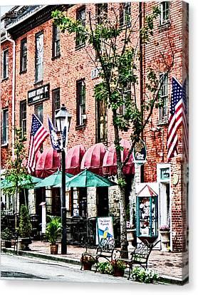 Alexandria Street With Cafe Canvas Print