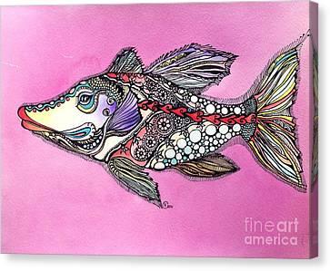 Alexandria The Fish Canvas Print by Iya Carson