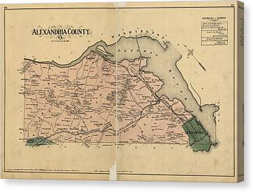Alexandria Virginia 1878 Canvas Print by Joseph Hawkins