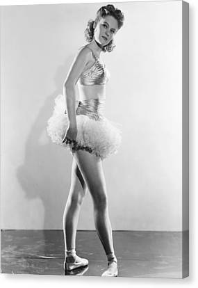 Alexis Smith, In Sixth Position Ballet Canvas Print by Everett