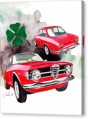 Alfa Romeo Giulia Canvas Print by Yoshiharu Miyakawa
