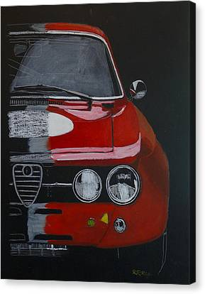 Canvas Print featuring the painting Alfa Romeo Gtv  by Richard Le Page
