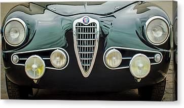 Alfa Romeo Milano Grille -0016c Canvas Print by Jill Reger