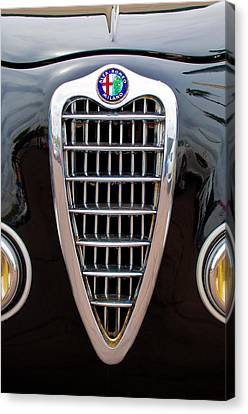 Grill Canvas Print - Alfa Romeo Milano Grille by Jill Reger