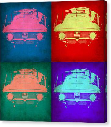 Alfa Romeo  Pop Art 1 Canvas Print by Naxart Studio