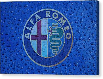 Alfa Romeo Rainy Window Visual Art Canvas Print