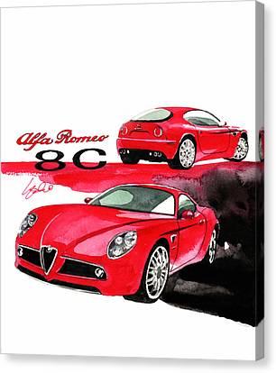 Alfa Romeo 8c Competizione Canvas Print by Yoshiharu Miyakawa