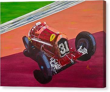 Alfa Romeo Tipo B P3  Canvas Print by Anna Ruzsan