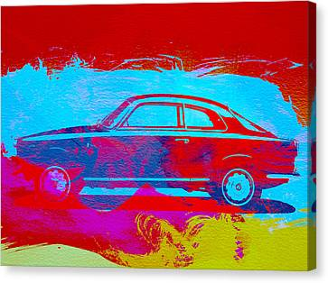 Alfa Romeo  Watercolor 1 Canvas Print by Naxart Studio