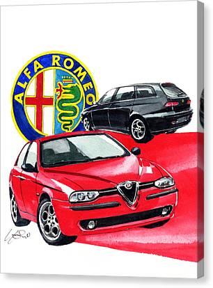Alfa Romeo 156 Canvas Print by Yoshiharu Miyakawa