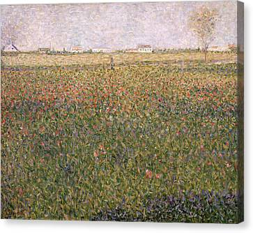 Alfalfa, St Denis Canvas Print by Georges Pierre Seurat