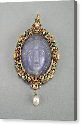 Medusa Canvas Print - Alfred André French, 1839 - 1919, Pendant With The Head by Quint Lox