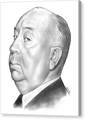 Alfred Hitchcock Canvas Print by Greg Joens