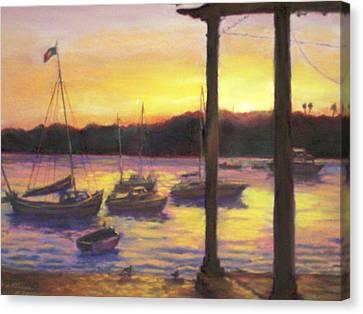Algarve Sunset Canvas Print by Harriett Masterson