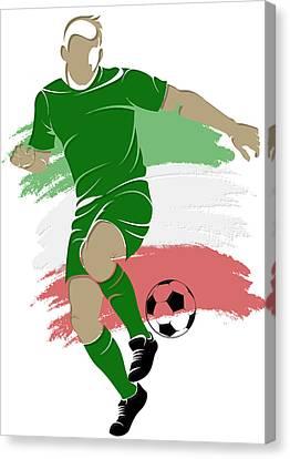 Algeria Soccer Player1 Canvas Print by Joe Hamilton