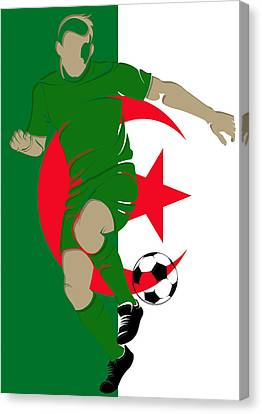 Algeria Soccer Player3 Canvas Print