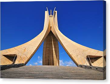Algiers Martyrs Monument Canvas Print by Miguel Torres