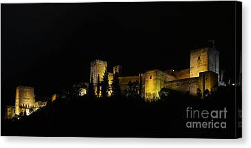 Alhambra At Night Canvas Print by Rudi Prott