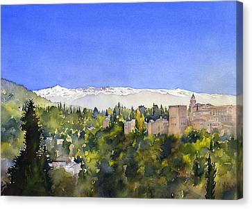 Alhambra Granada Canvas Print by Margaret Merry
