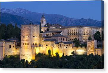 Canvas Print featuring the photograph Alhambra Palace  by Nathan Rupert