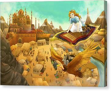 Ali Baba Cover Art Canvas Print by Reynold Jay
