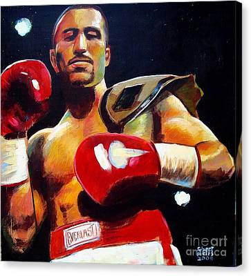 Canvas Print featuring the painting Ali Tareh by Robert Phelps