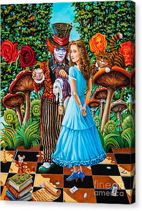 Mad Hatter Canvas Print - Alice And Mad Hatter. Part 2 by Igor Postash