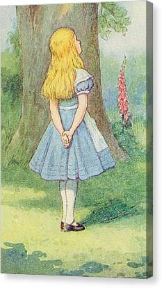 Alice In Wonderland Canvas Print by John Tenniel