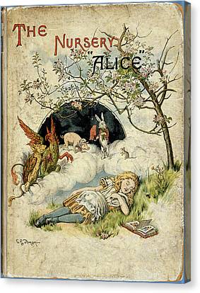 Alice Asleep Canvas Print by British Library