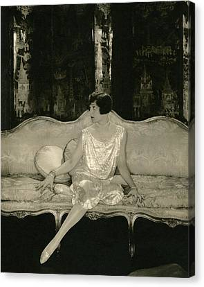 Alice Brady On Set For The Play Sour Grapes Canvas Print by Edward Steichen