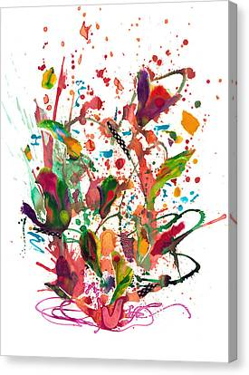 Fuschia Canvas Print - Alice Brought Flowers by Heather Moore
