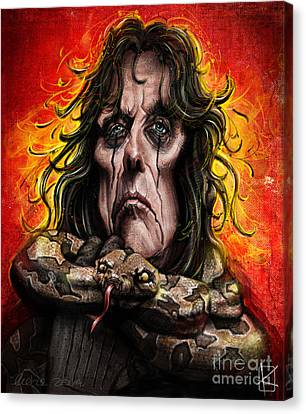 Caricature Canvas Print - Alice Cooper by Andre Koekemoer