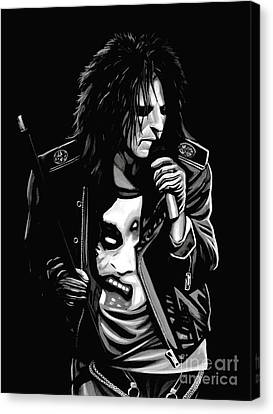 Fame Canvas Print - Alice Cooper by Meijering Manupix