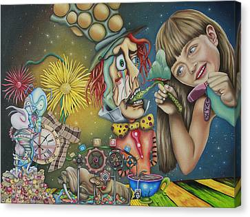 Alice Canvas Print by Desiree Aponte