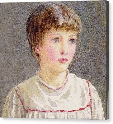 Youthful Canvas Print - Alice by Helen Allingham